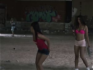 Apolonia Lapiedra, Alexa Tomas - Real amateur porno in a sloppy slum