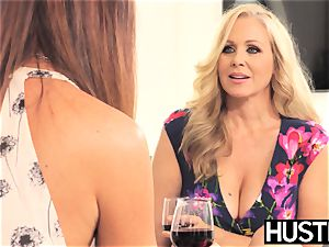 astounding Julia Ann pussy played harshly by huge-chested dyke