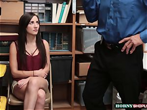 huge-titted Jade Amber gets her tight gash screwed by bulky officers humungous trunk