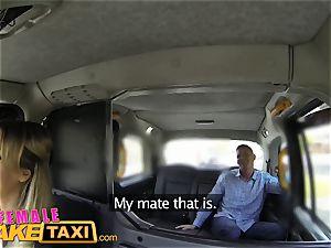 woman faux taxi super-hot goth lady tastes drivers honeypot