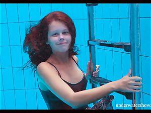 trimmed cutie Nata Szilva is a mermaid
