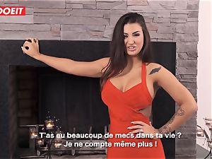 LETSDOEIT - Spanish babe enjoys boning immense French boners