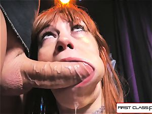 first-ever Class point of view - Alexa Nova inhaling a hefty man-meat in pov