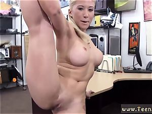 perfect figure light-haired drill Stripper wants an upgrade!