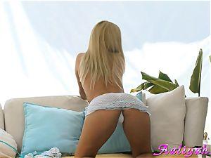 Aaliyah love blonde wearing spectacular lingerie
