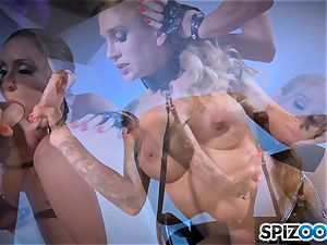 Monster with monster lollipop smashing deep Sarah Jessie and Jessica Jaymes