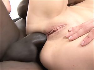 hotwife beau sharing gf with dark-hued fellow