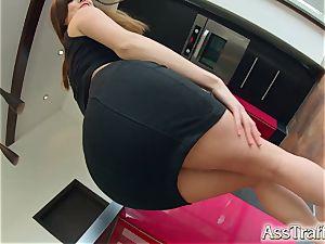 AssTraffic Spanish assfuck bi-atch gets plenty of butt poking