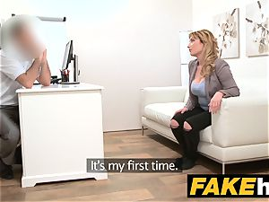 faux Agent Spanish babe with thick breasts get great banging