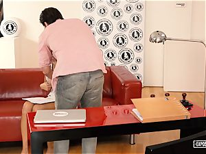 uncovered audition - hardcore audition tear up with big-chested stunner
