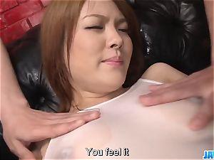 Subtitles - japanese sweetie Rei gets pipe in her cute