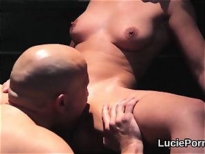inexperienced all girl damsels get their juicy muffs ate and screwed