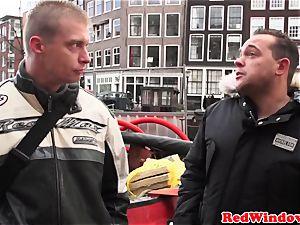 cocksucking amsterdam prostitute jizzed on