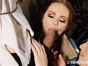 babes Ella and Olive desire nail with monster pink cigar