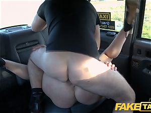 faux taxi ash-blonde cougar Victoria Summers boned in a taxi