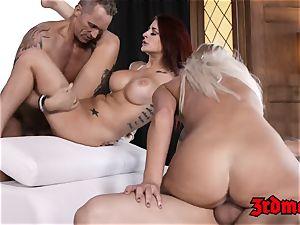luscious babe Britney Amber fed jizz in mesmerizing sex