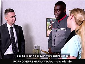porno ACADEMIE - assfuck 3some with blondie college girl