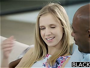 BLACKED smallish blondie teenage Rachel James first-ever ginormous ebony boner