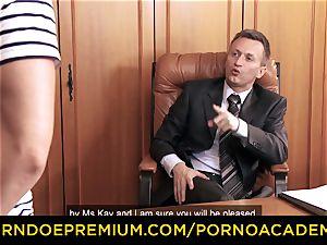 porno ACADEMIE - Lusty assistant anal 3 way intercourse