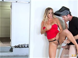 steamy wifey Samantha Saint plumbs her hubbies brutha