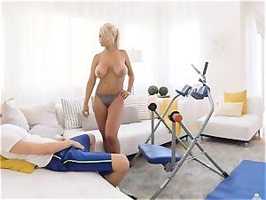 uber-sexy Brigette B mummy nailing the pool fellow