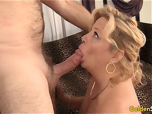grannie takes a enormous dick and jizz in her hatch