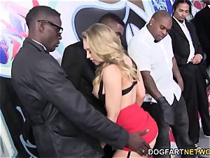 Kagney Linn Karter bi-racial gang-fuck