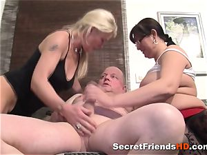 super-naughty plumper enjoys hard-core fuck-a-thon with a mature guy