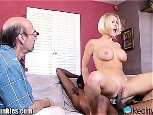 super-fucking-hot trophy wife gets a real enormous ebony cock to tear up