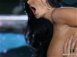 Ava Addams gets a cramming from the pool man