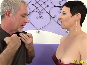 Mature tart tempts a meaty Dicked stud