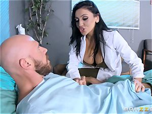 huge titted physician Audrey Bitoni treats a big dicked patient