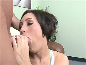 Dylan Ryder bounces her moist cooch on this hard trunk